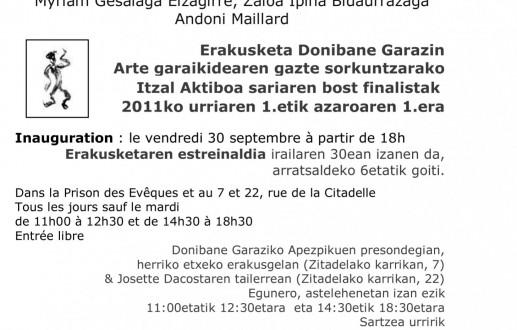 Obtention du prix de la ville pour le prix ITZAL AKTIBOA JEUNE CRÉATION