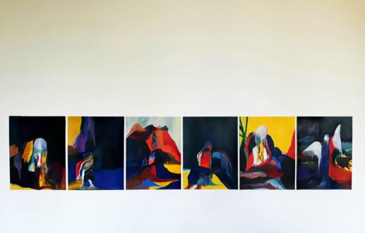 Projet série de peintures / Porter le paysage